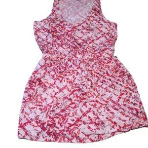 Calvin Klein V-Neck Dress Large Pocket Lightweight